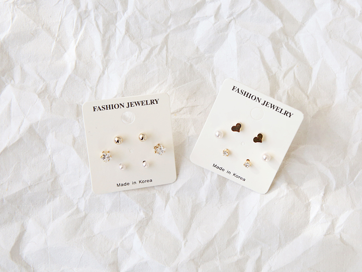 3 SET MINIMAL EARRING