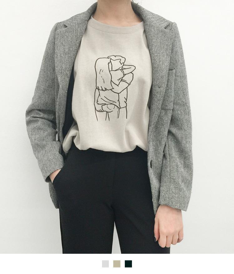 코이 드로잉 티셔츠
