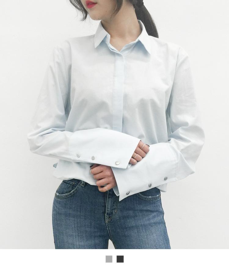 Wide button shirt