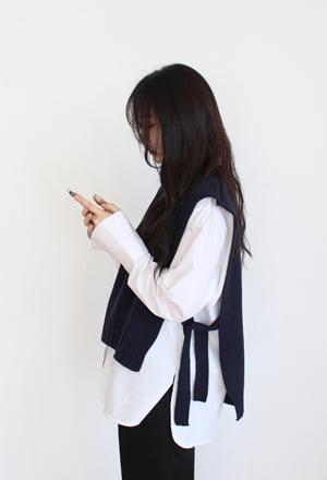 Strap knit vest (4color)