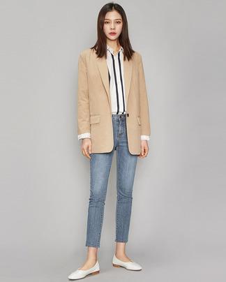 basic design cotton jacket (3 colors)