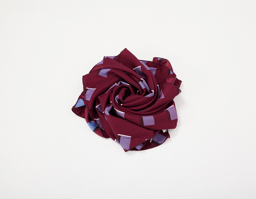 Cube spring scarf_K(size : one)