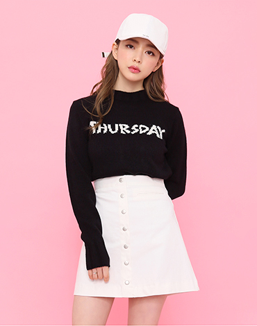 simple botton skirt