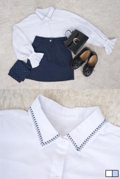 오로라소매프릴셔츠