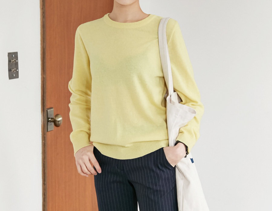 Apple round wool knit_K(size : free)