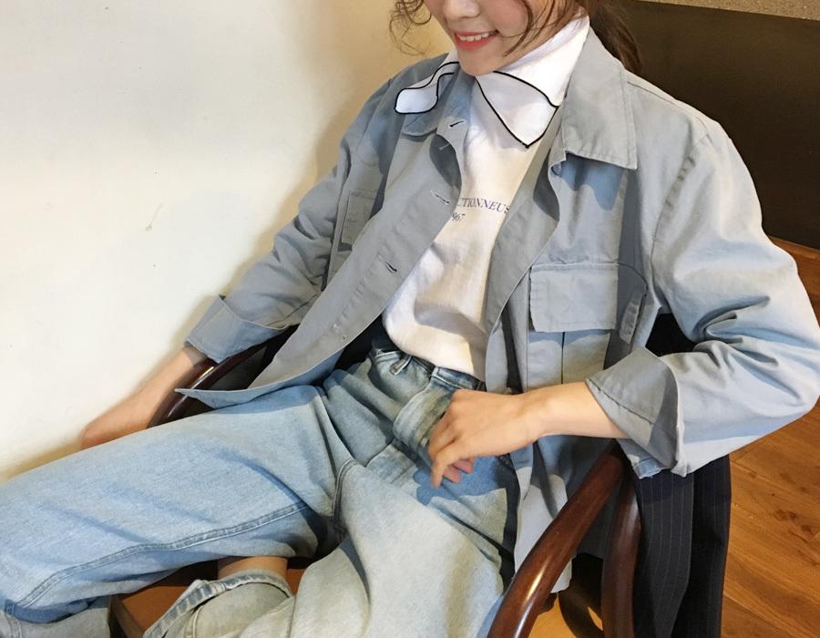 Wash crop cotton jacket_K(size : free)