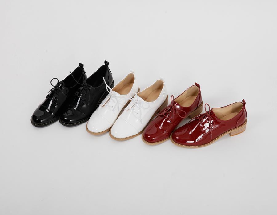 Line enamel string shoes_S (size : 225,230,235,240,245,250)