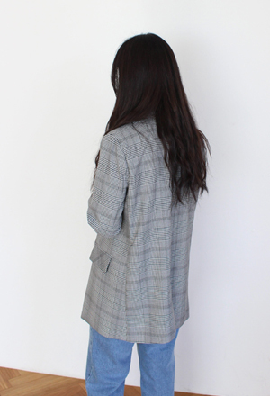 Classic check jacket (3color)
