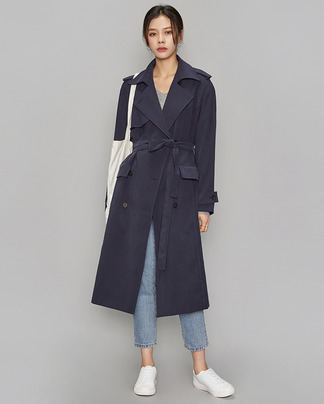 french mood trench coat (2 colors)