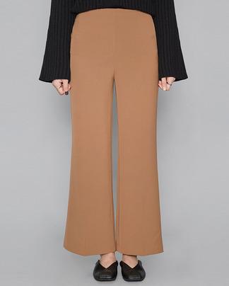 side zipper semi boots-cut slacks (3 colors)