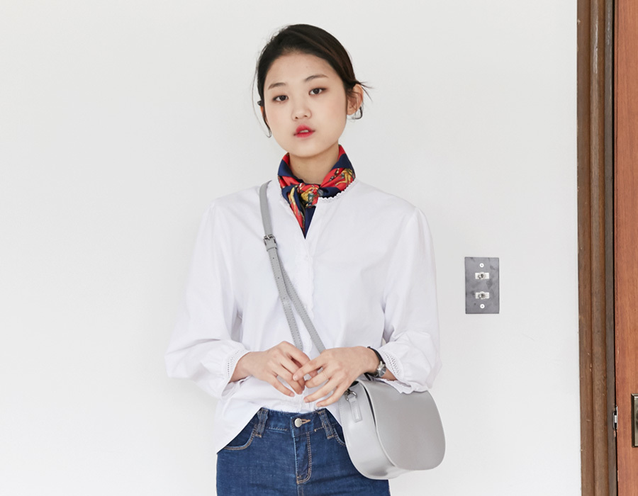 Marry lace cotton blouse_K(size : free)