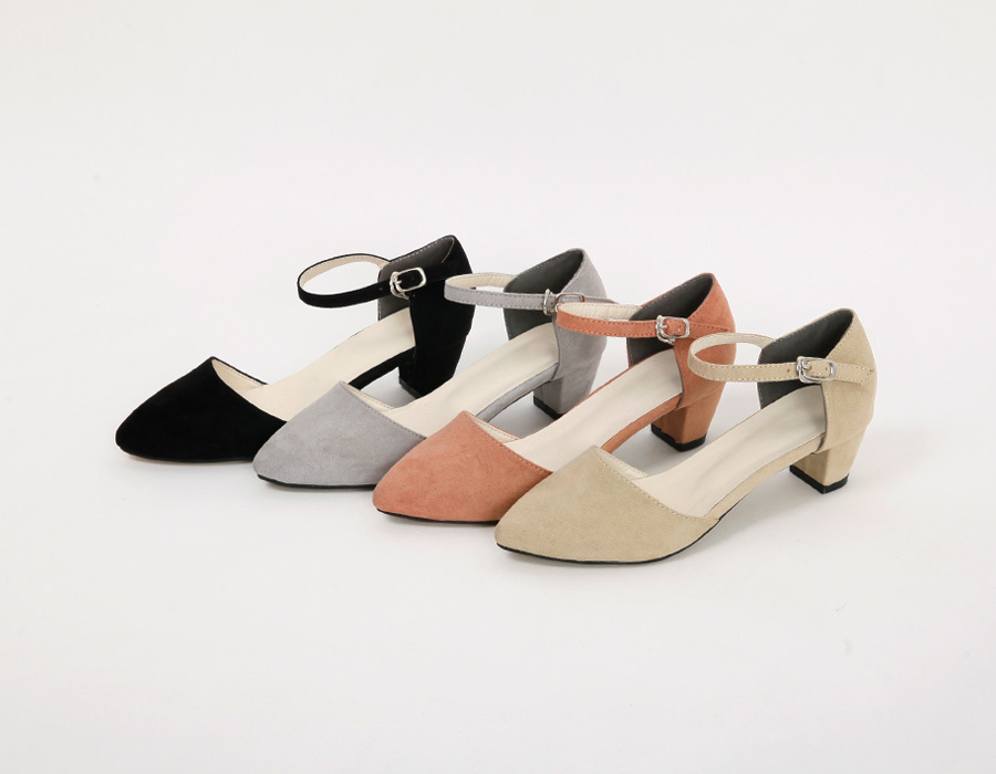 Cream sweat mary-jane heel_M (size : 225,230,235,240,245,250)