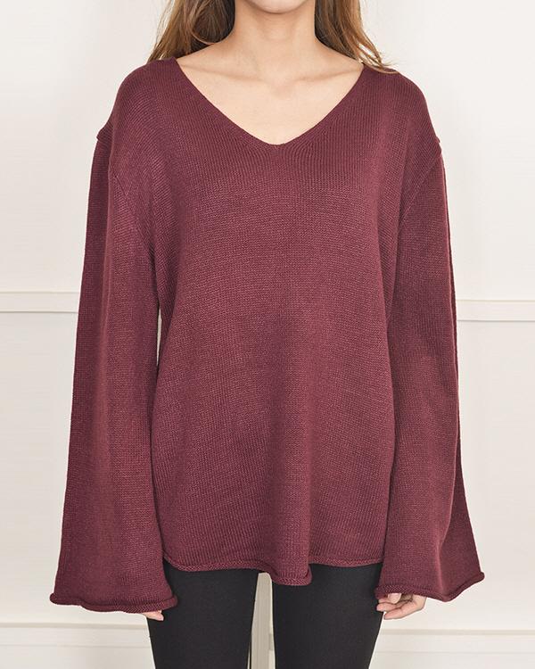 V loose fit knit