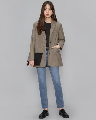margaret cotton check jacket (2 colors)