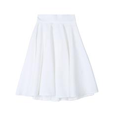 Flare banding midi skirt
