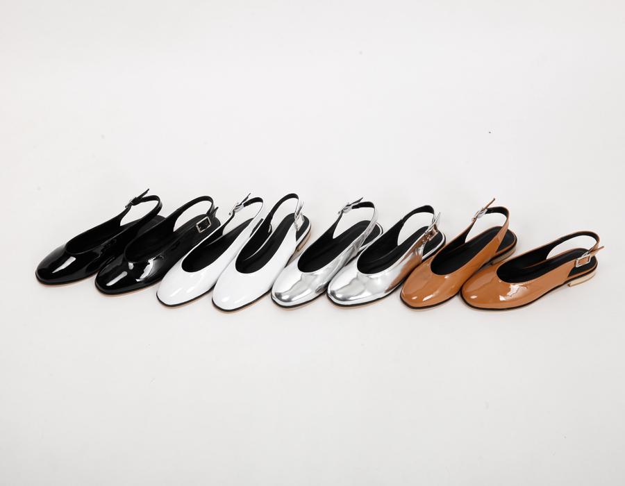 Enamel gloss sling-back_S (size : 225,230,235,240,245,250)