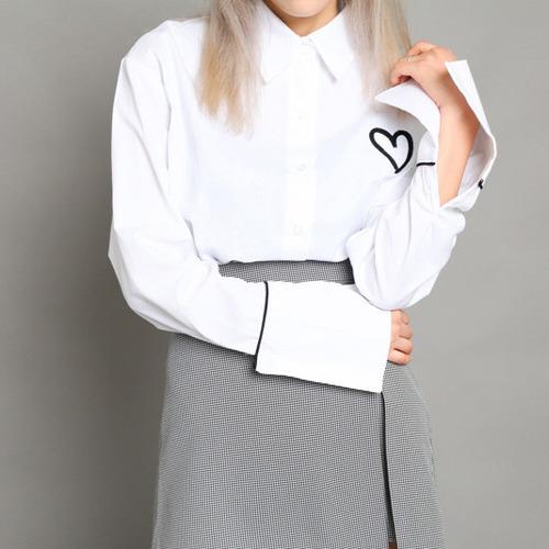 러브 라인 셔츠 (nb215)
