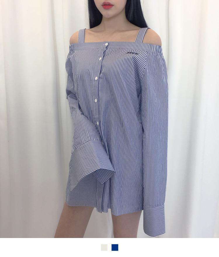 Off Shoulder Simple Shirt
