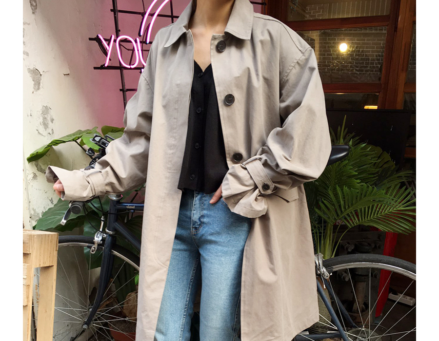 Made_outer-075_balloon half trench coat (size : free)