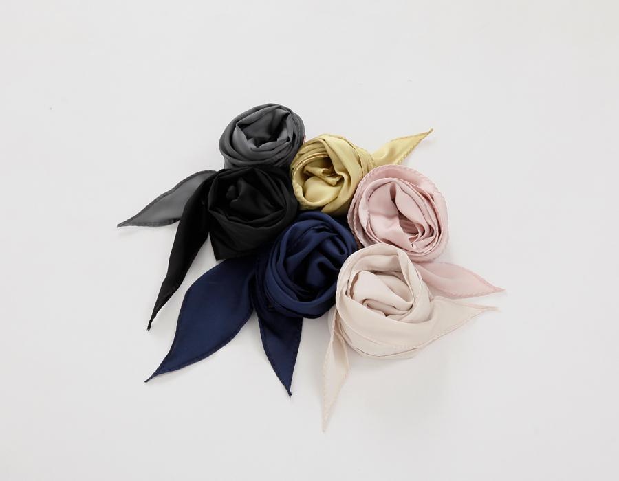Glue satin tie muffler_S (size : one)