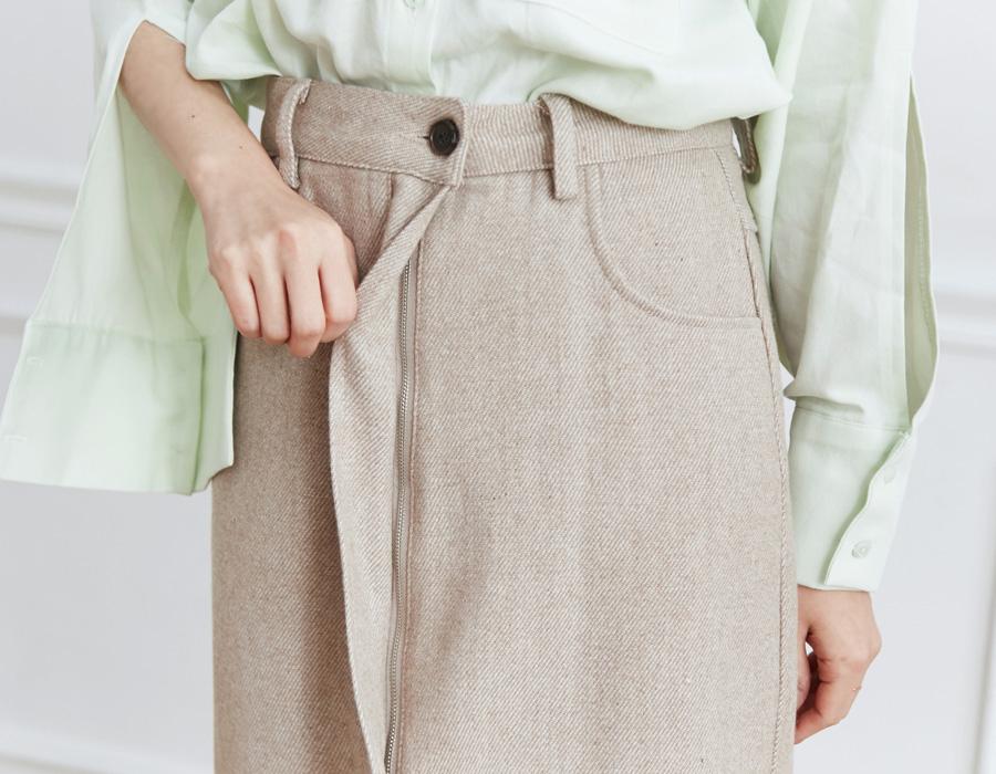 Comma herringbone skirt_M (size : S,M)