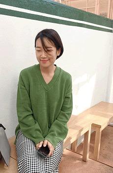 Grass-cotton knit
