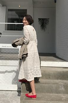 Heidi-lace dress [size: 44 ~ 66 / 2color]