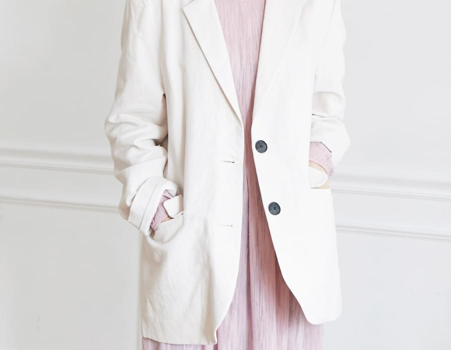 Need texture linen jacket_K (size : free)