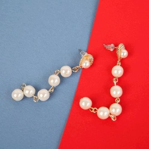진주 조개 드롭 귀걸이 (acc436)