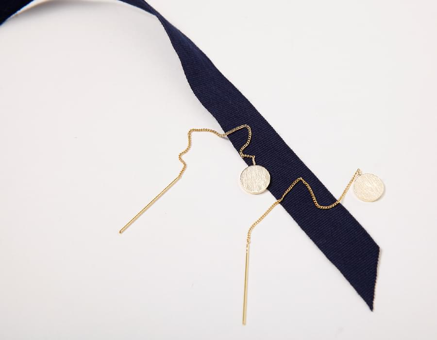 Staccato bold earring_S (size : one)