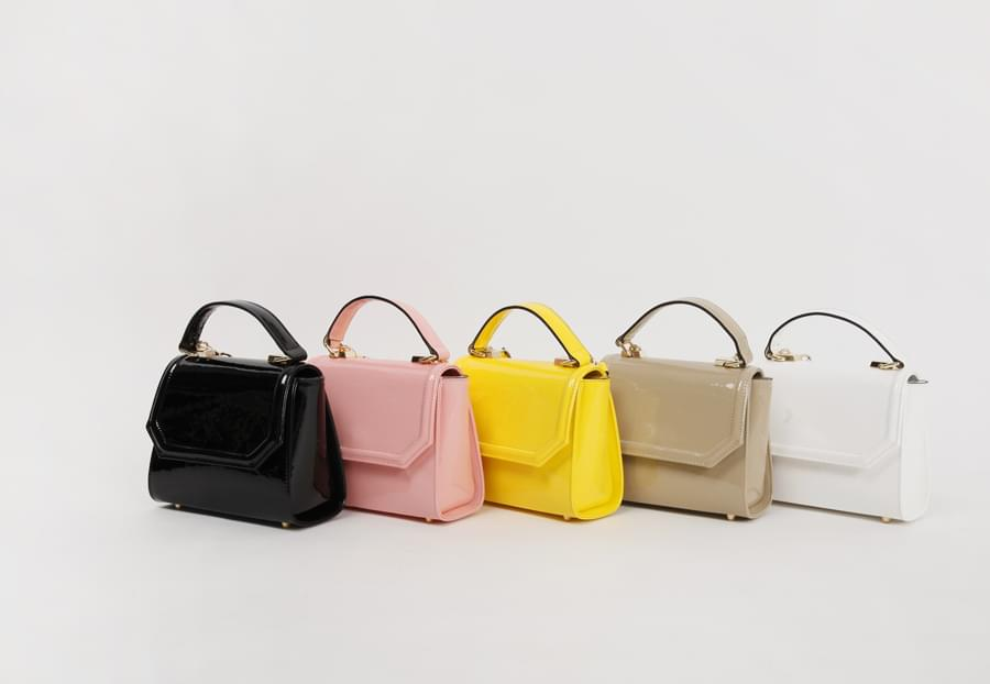 Youth color enamel bag_H (size : one)