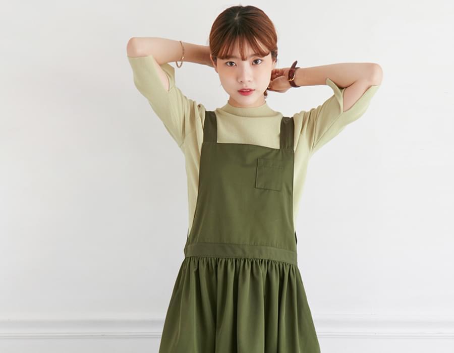 Rich half-neck color knit_H (size : free)