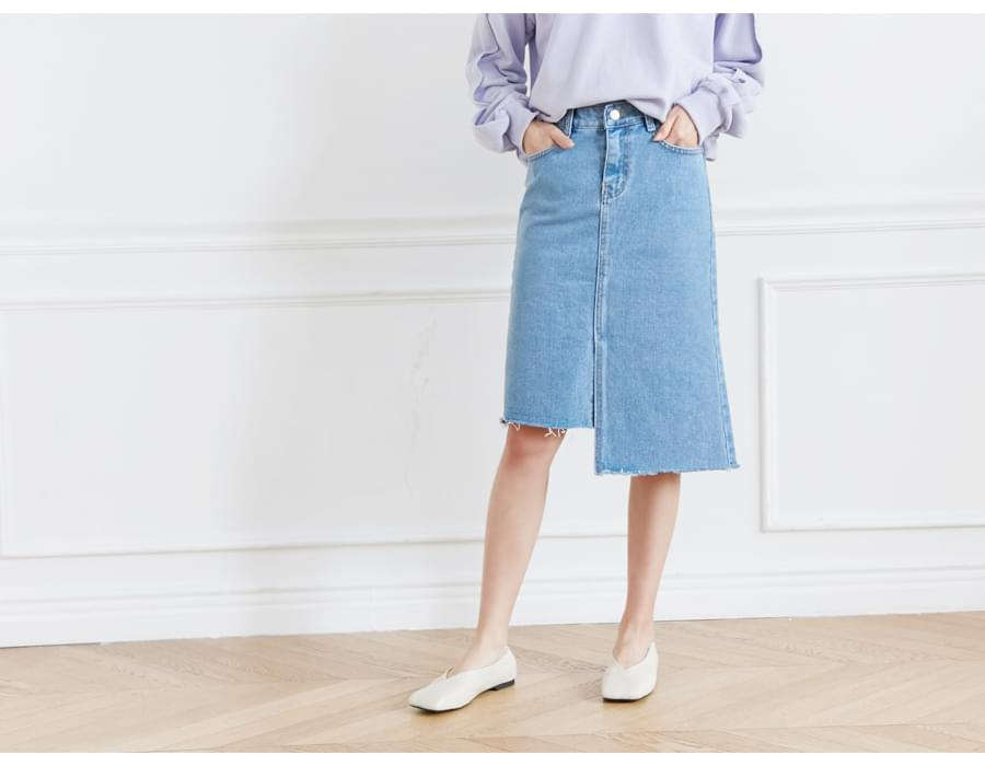 End unbal denim skirt_S (size : S,M,L)
