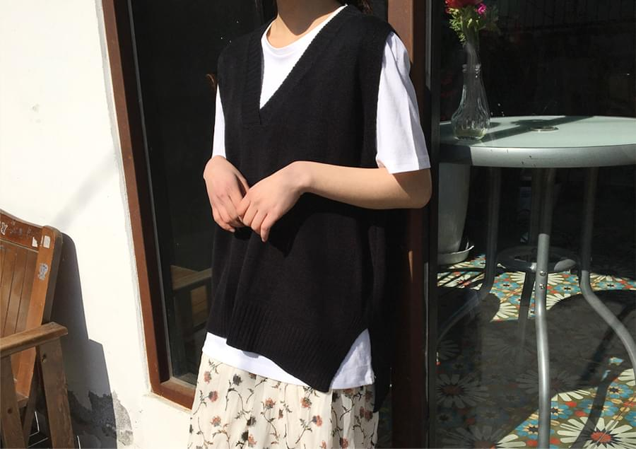 Have day knit vest_H (size : free)