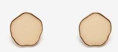 wave circle earring