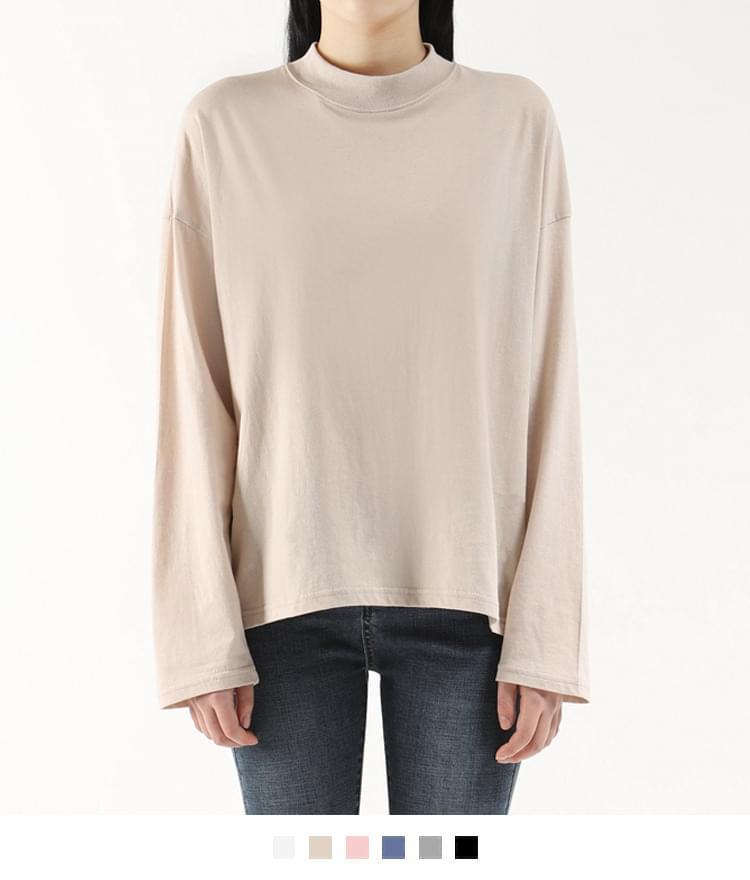 Van High-neck long-sleeved polo shirt