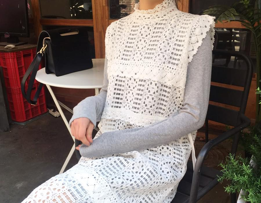 White lace layerd ops_K(size : free)