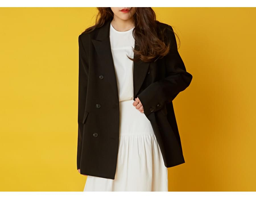 Trick double tailored jacket_K(size : free)