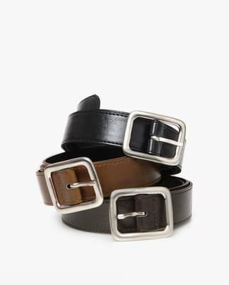 wide square point belt