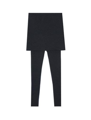 Brushed rubber skirt leggings