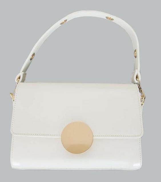"MA-Gold ""MY ADORABLE BAG"" button mini bag"