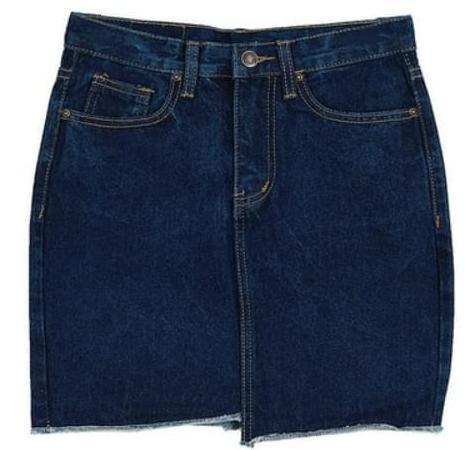unbalance denim skirts (2 color)