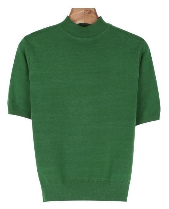 Half-neck s/s knit