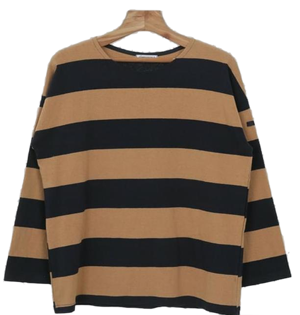 Wide-striped tee