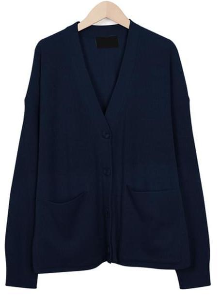 Easy pocket cardigan_B (size : free)