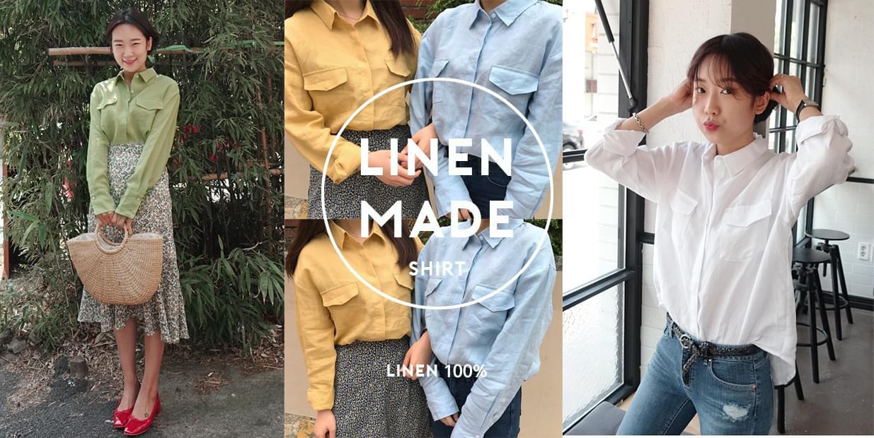 Pomme-linen shirt [sole wear]