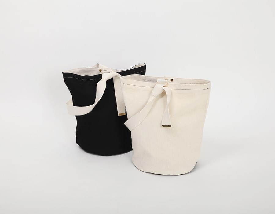 Canvas cotton sylinder bag_K(size : one)