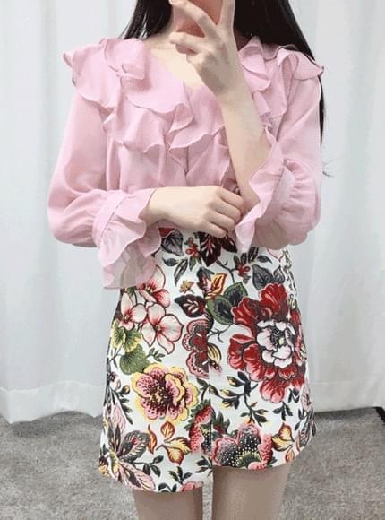 Cheongshon-see-through blouse