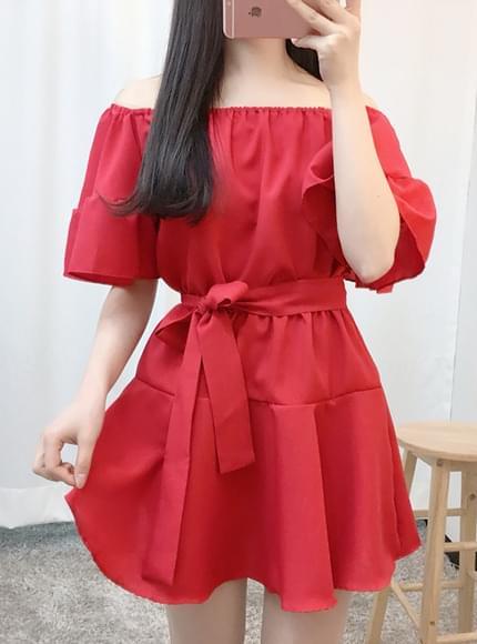 Peony Off Shoulder Dress