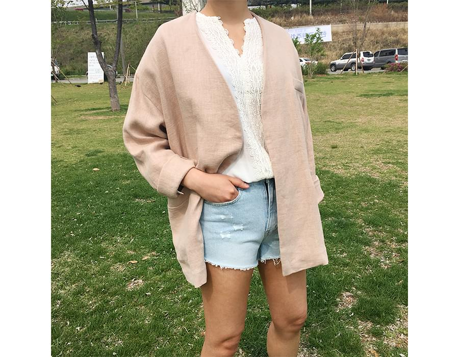 Made_outer-082_robe linen jacket (size : free)